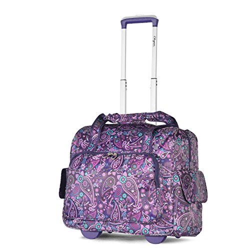 Olympia Deluxe Fashion Rolling Overnighter