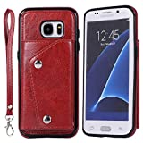 Galaxy S7 Edge Case,Wallet PU Leather Phone Cases with Credit Card Holder Slot...