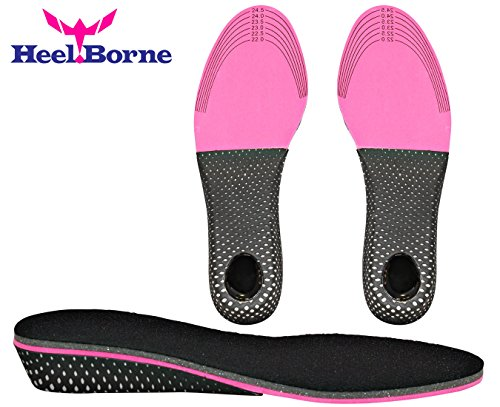 1 Inch Anti-Slip and Light-Weight Memory Foam Height Increasing Insole for Women by HeelBorne