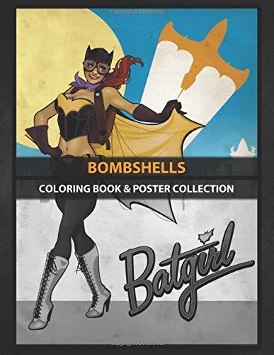 Coloring Book & Poster Collection: Bombshells Batgirl Comics
