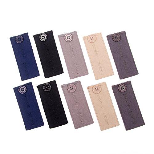 10 Stück Verstellbare Hosen-Extender Bundle für Anzugshosen und Hosen