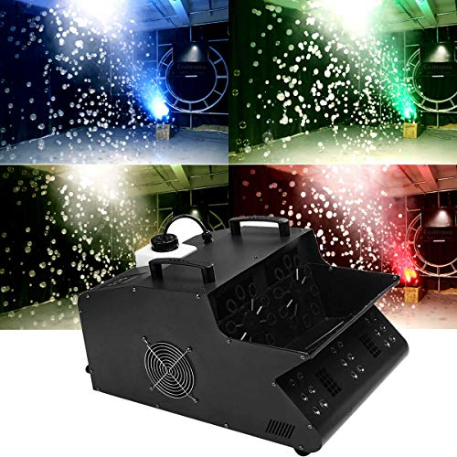 Tengchang 3000W DMX Fog Bubble Machine Effect Halloween Stage Remote 3 IN 1 RGB 18 LEDS Multi Color
