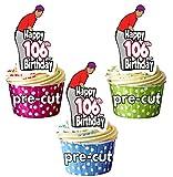 Adornos comestibles para cupcakes y tartas (12 unidades), diseño de golf