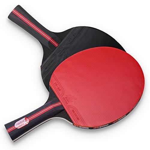Keen so 1 par de Raquetas de Tenis de Mesa, empuñadura con Mango Largo, con Bolsa