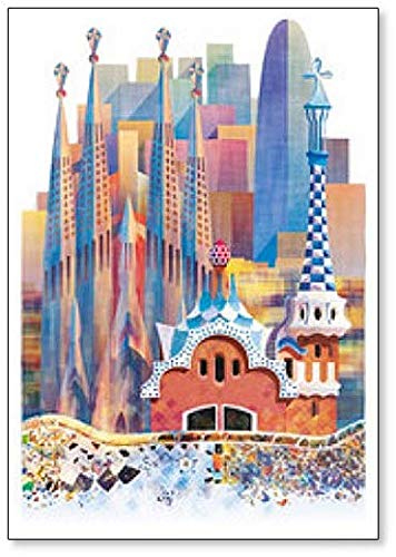 Barcelona Sagrada Familia imán para nevera