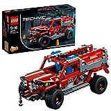 LEGO Technic - Equipo de Primera Respuesta, Juguete de Bomberos 2 en 1 para Construir para Niños y Niñas de 9 a 16 Años, Incluye Sistema Cabestrante (42075)