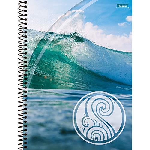 Foroni 8031 - Caderno 10 Matérias Capa Dura 2019 Quatro Elementos 200 Folhas, Kit de 4 unidades, Multicor