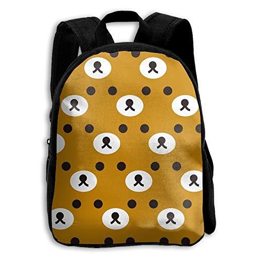 ADGBag Children's Rilakkuma Brown Face Backpack Schoolbag Shoulders Bag for Kids Kinder Rucksack
