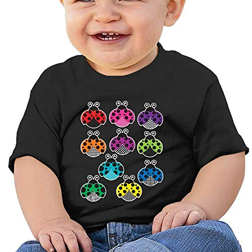 Baby Girl Infant Multicolored Ladybugs Short Sleeves Tee