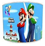 Premier Lampshades Ceiling Super Mario Brothers Childrens Lampshades - 10 Inch