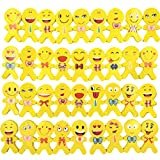JZK 36 x Gomas emoticonos para lapices Emoji Borrador Set para niños Regalo cumpleaños Navidad favores Fiesta recompensa Escolar