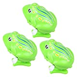 TOYMYTOY 3 Stück Wind up Spielzeug Kinder Tier Uhrwerk Spielzeug springende Frösche Badespielzeug...