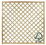 ITALFROM Pannello Grigliato Diagonale in Legno di Pino Impregnato per Giardino - cm150x180h