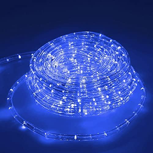 ECD Germany LED Lichtschlauch Lichterschlauch 10 Meter - Blau- 36 LEDs/m - Innen/Aussen - IP44 - Lichterkette Lichtband Licht Leucht Dekoration Schlauch Leiste Streifen Strip