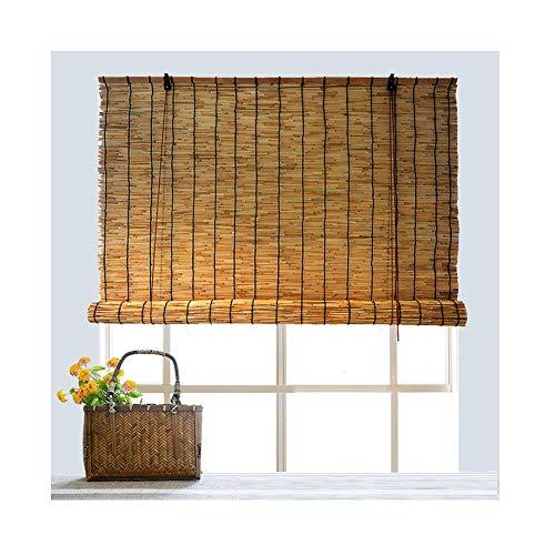 KOSGK - Cortina de Estor, bambú, persiana Romana, Cortina separadora para Ventana Horizontal Exterior privada, Personalizable (tamaño: 135 x 175 cm), a, 135x225cm