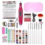 Juego de herramientas de uñas, moreoustitory Nail Set UV LED NLamp secador con remojo de herramientas de manicura Set eléctrico de uñas