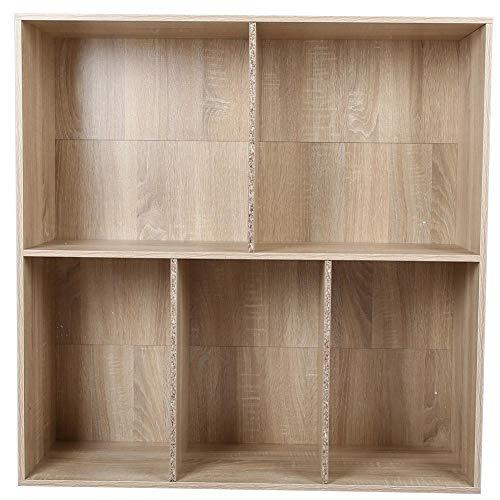 GOTOTOP 5 kubus modulaire boekenkast rekken Display plank opslag vrijstaande kast eenheid voor kantoor huis, 90 x 29 x 89cm