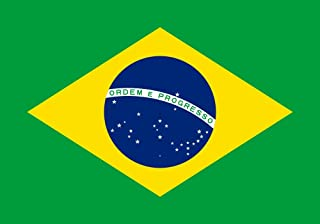 SoCal Flags® Brand Brazil Flag 3x5 Foot Polyester Brazilian Flag - High Quality Weather Resistant Durable - 100d Material Not See Thru Like Other Brands