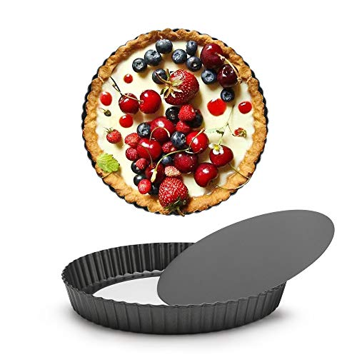 Round 10 inch Tart Pan with Removable Loose Bottom