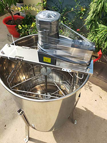 TECHTONGDA Electric 4 Frame Honey Extractor 304 Stainless Steel Honeycomb Drum Spinner Beekeeping...