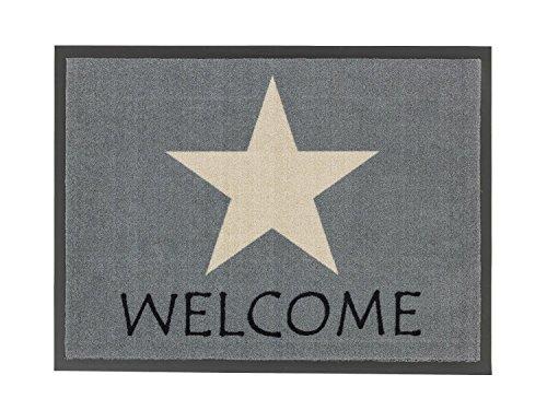 Schmutzfangmatte Fußmatte Fussmatte Fußabstreifer Fußabtreter Schmutzmatte Modell grau - Stern - Stars - Welcome - ca 50 x 70 cm