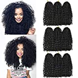 8 Inch Passion Twist Hair Short Marlybob Crochet Hair 9 Bundles/Lot Synthetic Ombre Braiding Hair Extensions Small Afro Kinky Curly Twist Braid(1B)