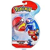 Pokemon Pop Action Poké Ball Launcher, Comes with Launching Poplio Mini-Plush & Poke Ball - Flies up to 10ft into Battle Action