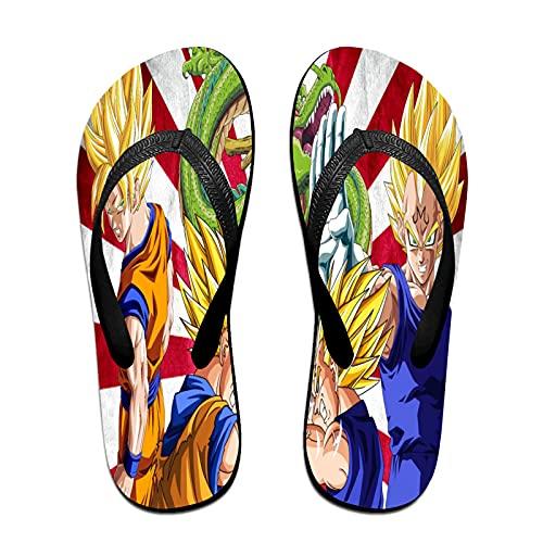Xiaoxian Dra-gon Ba-ll Z 47 - Zapatillas de playa para interiores, color Amarillo, talla Large X-ancho
