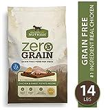 Rachael Ray Nutrish Zero Grain Natural Dry Dog Food, Chicken & Sweet Potato Recipe, 14 Pounds, Grain Free
