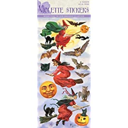 Violette Stickers Vintage Halloween Witches