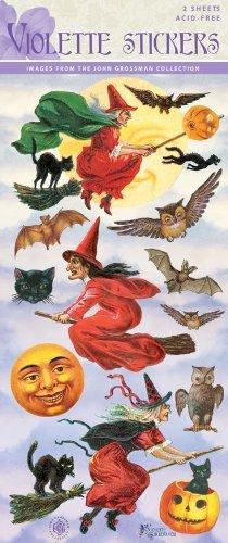 Violette Stickers Vintage Halloween Witches |