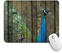 PATINISAマウスパッド 壁に描かれた孔雀の壁画ロイヤル神話の動物は忍耐力のアートワークを表しています ゲーミング オフィ良い 滑り止めゴム底 ゲーミングなど適用 マウス 用ノートブックコンピュータマウスマット