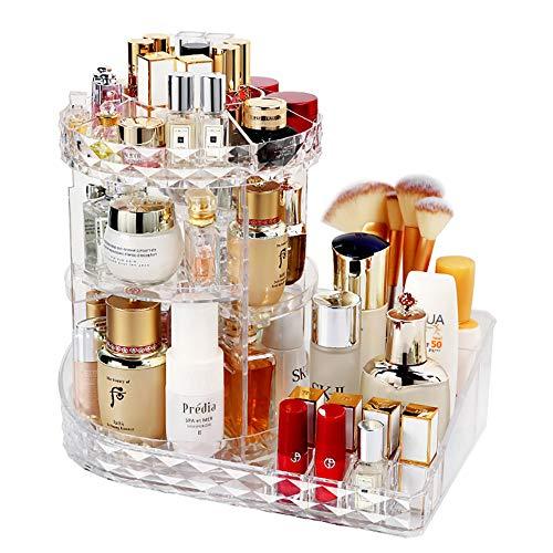 LBLA Organizador del Maquillaje,360 Grados Que Giran la Joyería Cosmético Organizador, 8 Capas Componen la Caja de Almacenaje