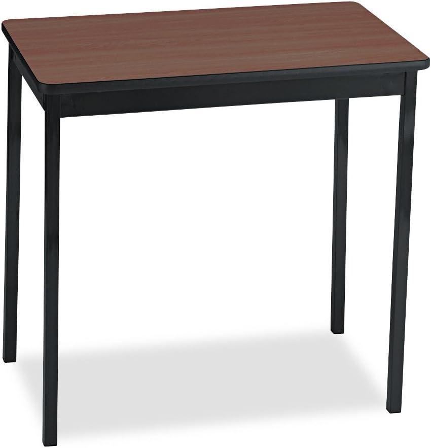 Barricks Utility Price reduction Table Rectangular 30w Portland Mall Walnut Bla 30h 18d x