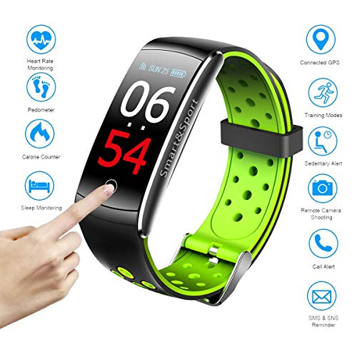 Fitness Tracker HR,Activity Tracker Heart Rate Monitor Watch with Sleep Health Step Monitor,Calorie Counter Fitness Watches for Men Women,Alarm Clock IP68 Kids Fitness Tracker for Girls (GREEN, oen)