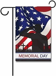 KafePross Thank You Military Service Patriotic Garden Flag Memorial Day Banner 12.5