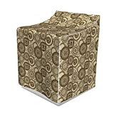 Ambesonne Animal Print Washer Cover, Safari Pattern with Cheetah Skin Print Animal Theme in Neutral Colors, Suitable for Dryer and Washing Machine, 29' x 28' x 40', Brown Beige