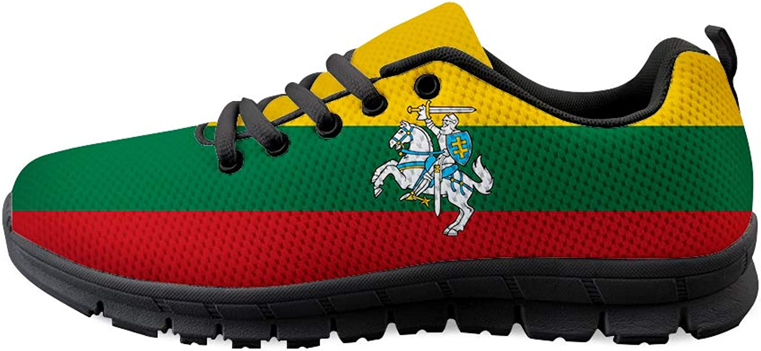 Owaheson Lace-up Sneaker Training shoes Mens Womens Lithuania Flag National Emblem