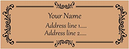address label rectangular label wedding announcements SET OF 30 Return address label brown kraft label custom return address label
