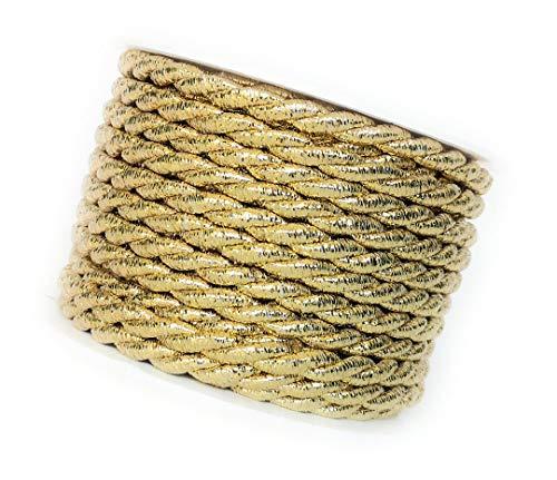 Kordel 10m x 6mm Gold Drehkordel Kordelband Kordelschnur