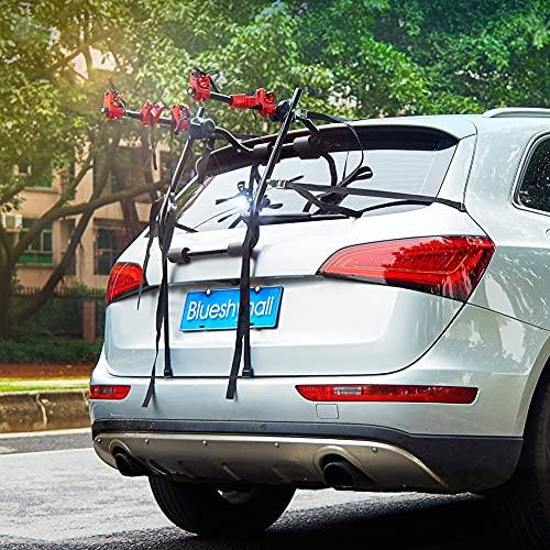 Blueshyhall Auto Fahrradträger Heckklappe Fahrradträger ohne anhaengerkupplung Fahrradträger mit Gurten