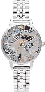 Olivia Burton Abstract Florals Quartz Movement Marble Dial Ladies Watch OB16VM38
