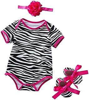 Distinguished Elegant Summer Toddler Girl Clothing Set Romper+Shoes+Headband 3 Pcs Outfits Set Clothes - Floral, L for 12-...