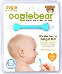 Scoop end for dried boogers and loop end for sticky boogers Great for little ears too BPA, Latex, and PVC Free Bear-head safety design prevents oogiebear from going in too far up baby's nose and ears FDA classified medical device