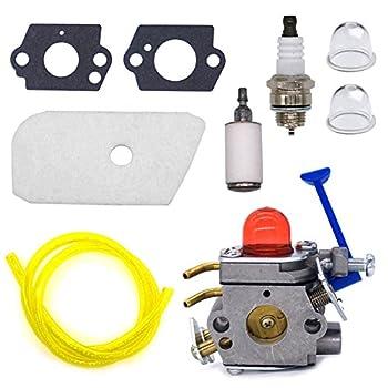 FitBest Carburetor Kit for Husqvarna 128C 128L 128LD 128R 128RJ 128CD 128LDX Trimmer 545081848 C1Q-W40A Carb