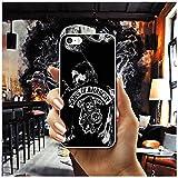 YFHBDJK De los Hijos de la anarquía Suave Transparente del teléfono del TPU de la Cubierta de los Casos for iPhone 8 7 6 6S Plus X XR XS MAX 5 5S SE 5C 4 4S Shell Fundas