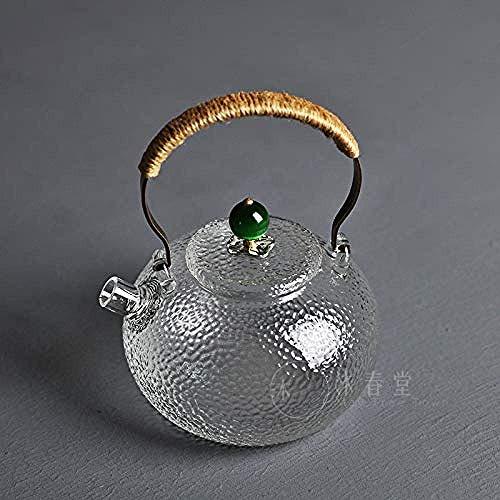 ShiSyan Juegos de té de cristal s Caldera 1000ml a prueba de explosiones de alta temperatura del vidrio en frío botella de agua de gran capacidad jarro jugo fresco de la Copa Conjunto de flores engros