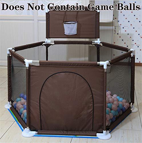 Kinderspeelplaats Baby Beschermhekkenbouwdoos Kids Box Ball Pool Children's Box Oxford Doek Kinderen Fence Leuk Speeltje,Coffee