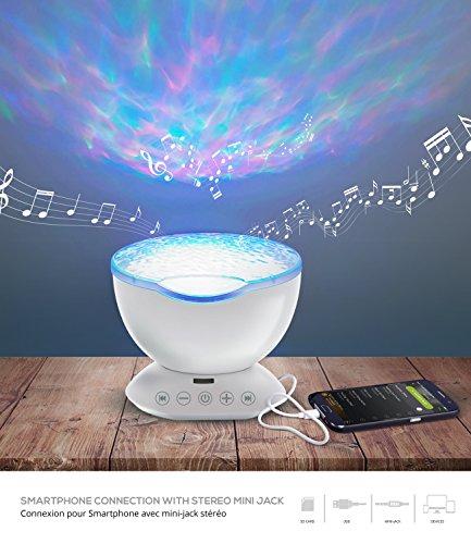 Lampe d'ambiance qui diffuse vos musiques et lumières avec télécommande