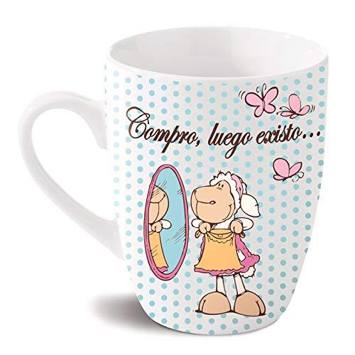 NICI Mug Compro, Puis existo (Jolly), Multicolore, Unique